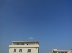 窗外的蓝天